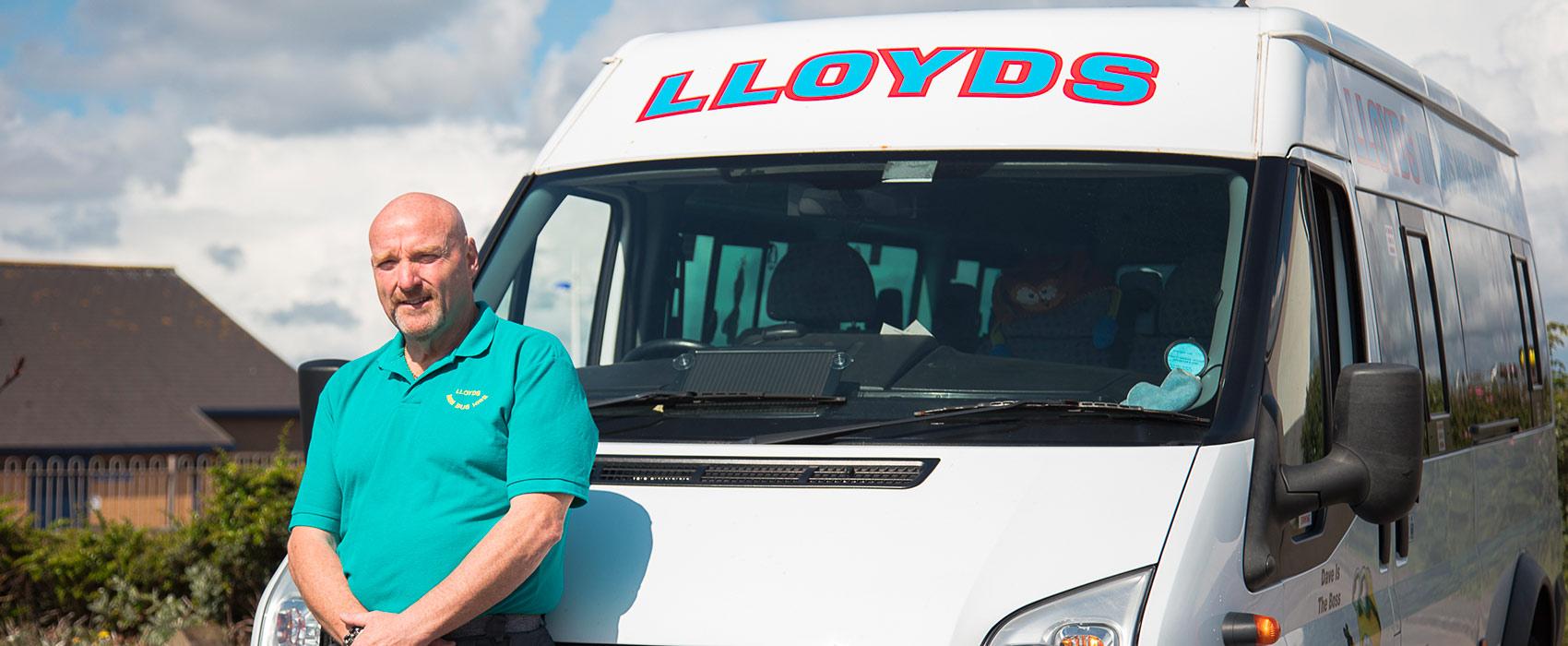 PML Supporting David of Lloyds Mini Bus Hire
